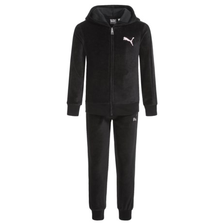 Puma Velour Hoodie and Pants Set (For Little Girls)