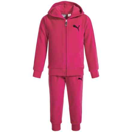 Puma Velour Hoodie and Pants Set (For Toddler Girls) in Pink - Closeouts