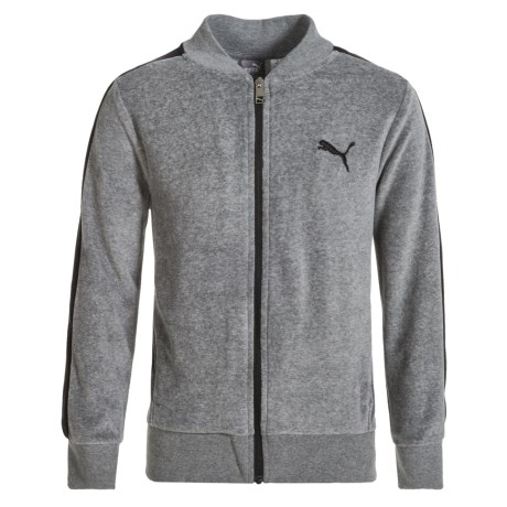 Puma Velour Jacket (For Big Boys) in Charcoal Heather