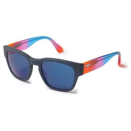Puma Vintage Shape Sunglasses in Matte Blue/Multi Blue - Overstock
