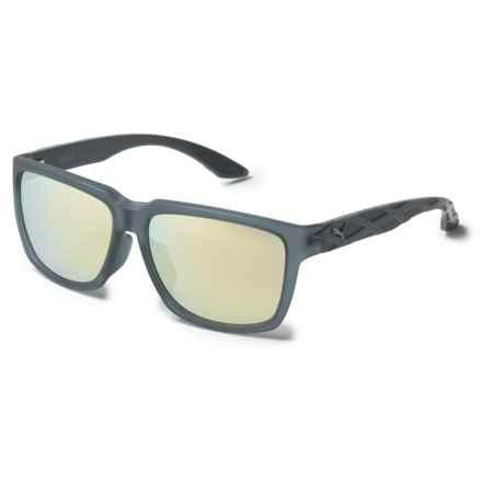 Puma Wayfarer Sunglasses (For Men) in Transparent Grey/Grey/Yellow - Overstock