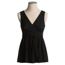 Pura Vida Simple Pleasure Blouse - Cotton, Sleeveless (For Women) in Black - Closeouts