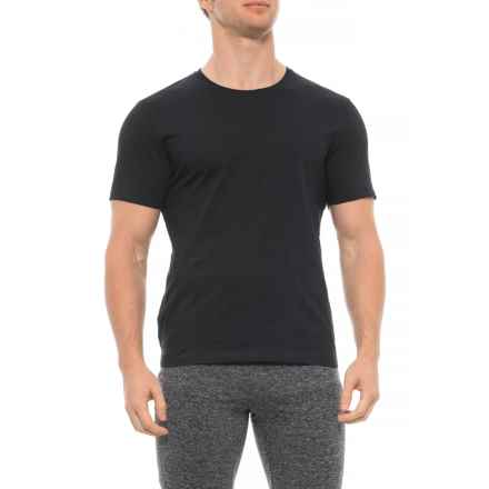 Pure and Simple Crew Neck T-Shirt - Short Sleeve (For Men) in Black - Closeouts