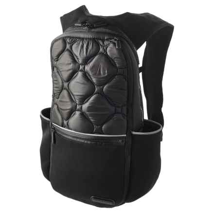 Pure & Simple Padded Backpack in Black - Overstock