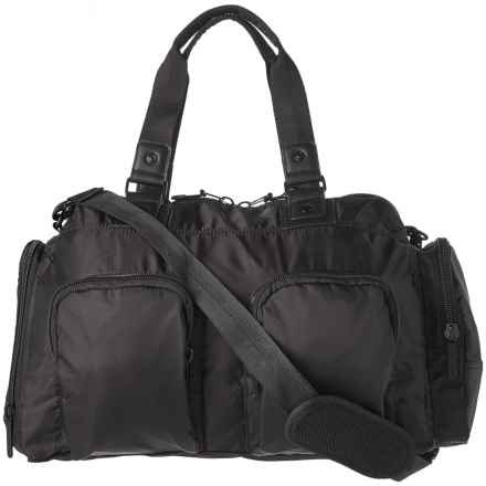 Pure and Simple Pure & Simple Double-Front-Pocket Duffel Bag in Black - Overstock
