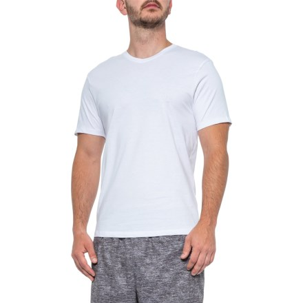 0701923470a5 Pure and Simple V-Neck Shirt - Short Sleeve (For Men) in White