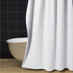 Pure Canvas Shower Curtain Set - Extra Long, Rings and Liner in White