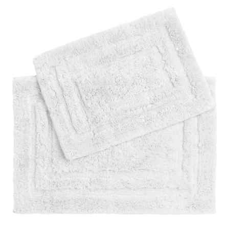 PURE Cotton Bath Rugs - 2-Pack in White - Closeouts
