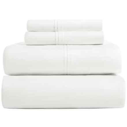 Pure Elegance Pima Cotton Sheet Set - Queen, 500 TC in White - Closeouts