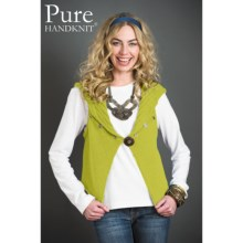 Pure Handknit Andrea Sweater Vest (For Women) in Lucky Yellow - Closeouts