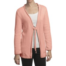 Pure Handknit Asa Tie-Front Cardigan Sweater (For Women) in Vintage Pink - Closeouts