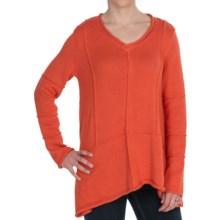 Pure Handknit Beach Comber Sweater (For Women) in Pop Orange - Closeouts