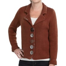 Pure Handknit Boardwalk Cotton Sweater (For Women) in Autumn Rust - Closeouts