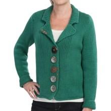 Pure Handknit Boardwalk Cotton Sweater (For Women) in Luxe Emerald - Closeouts