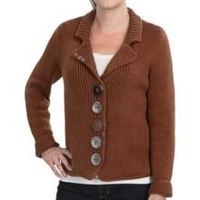 Pure Handknit Boardwalk Cotton Sweater (For Women) in Modern Twig - Closeouts