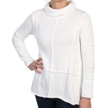 Pure Handknit Celebrate Turtleneck Sweater - Handkerchief Hem (For Women) in White - Closeouts