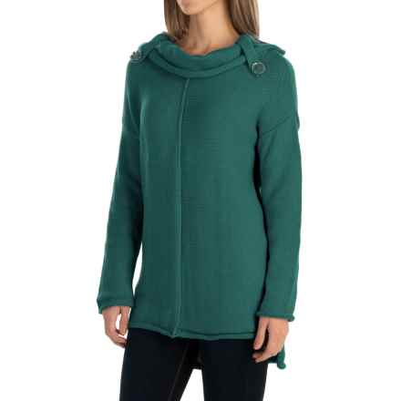 Pure Handknit City Cowl Sweater (For Women) in Luxe Emerald - Closeouts