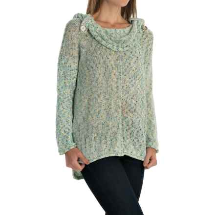 Pure Handknit City Cowl Sweater (For Women) in Ocean Speckle - Closeouts