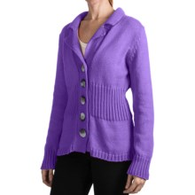 Pure Handknit Earth Blazer Sweater (For Women) in Sassy Purple - Closeouts