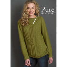 Pure Handknit Karina Pullover Sweater (For Women) in Calabria Olive - Closeouts