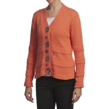 Pure Handknit Karon Cardigan Sweater (For Women) in Orange - Closeouts