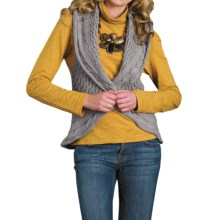 Pure Handknit Marni Crochet Cocoon Sweater Vest (For Women) in Studio Grey - Closeouts