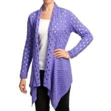 Pure Handknit Meyers Open-Knit Cardigan Sweater (For Women) in Sassy Purple - Closeouts