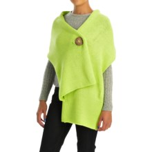 Pure Handknit Original Button Wrap - Cotton (For Women) in Lime Surf - Closeouts