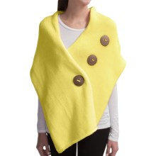 Pure Handknit Original Button Wrap - Cotton (For Women) in Seaside Yellow - Closeouts