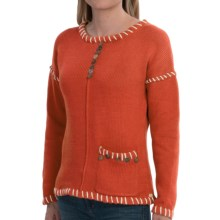 Pure Handknit Preserved Sweater (For Women) in Eco Orange - Closeouts