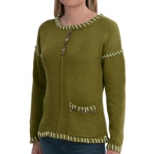 Pure Handknit Preserved Sweater (For Women) in Green Canyon - Closeouts