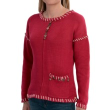 Pure Handknit Preserved Sweater (For Women) in Red Current - Closeouts