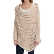Pure Handknit Spirit Cable Cardigan Sweater (For Women) in Speckle - Closeouts