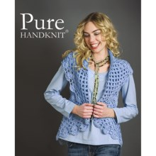 Pure Handknit Stella Cocoon Cable Sweater Vest (For Women) in Hot For Blue - Closeouts