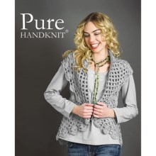 Pure Handknit Stella Cocoon Cable Sweater Vest (For Women) in Studio Grey - Closeouts