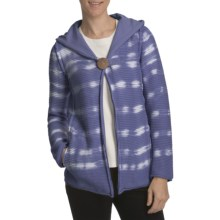 Pure Handknit Studio Classic Tie-Dye Hoodie Sweatshirt (For Women) in Blue Mountain High - Closeouts