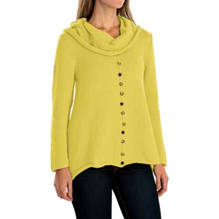 Pure Handknit Sweetheart Swing Sweater - Cowl Neck (For Women) in Seaside Yellow - Closeouts