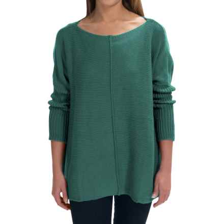 Pure Handknit Urban Boat Neck Sweater (For Women) in Luxe Emerald - Closeouts