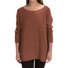 Pure Handknit Urban Boat Neck Sweater (For Women) in Modern Twig - Closeouts