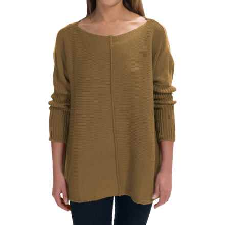 Pure Handknit Urban Boat Neck Sweater (For Women) in Tea Leaf - Closeouts