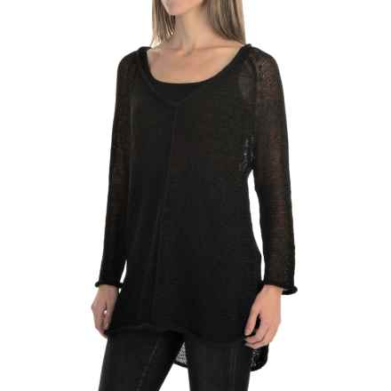 Pure Handknit Viola Sweater (For Women) in Black - Closeouts
