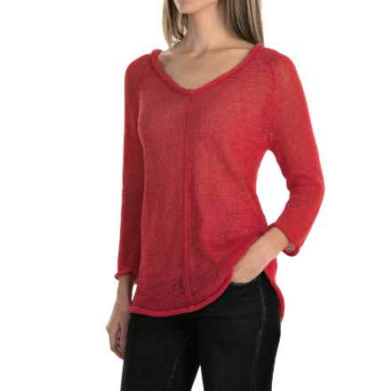 Pure Handknit Viola Sweater (For Women) in Cosmic Coral - Closeouts