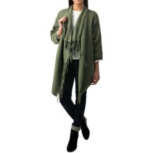 Pure Handknit Weekend Cotton Cardigan Sweater - 3/4 Sleeve (For Women) in Moss - Closeouts