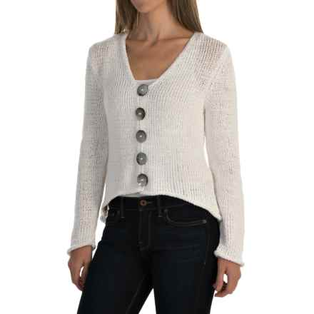 Pure Handknit West High-Low Cardigan Sweater (For Women) in Barry White - Closeouts