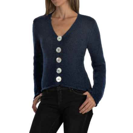 Pure Handknit West High-Low Cardigan Sweater (For Women) in Ink - Closeouts