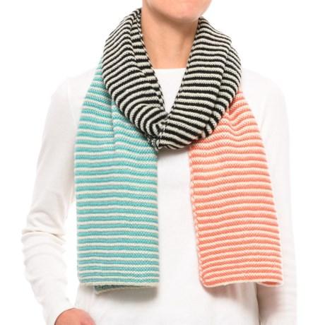 PWDER Room Multi-Stripe Knit Scarf (For Women) in Cream