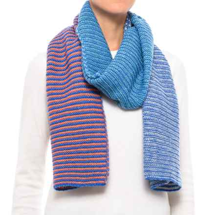 PWDER Room Multi-Stripe Knit Scarf (For Women) in Royal - Closeouts