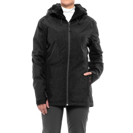 PWDER Room Phantom PrimaLoft® Ski Jacket - Waterproof, Insulated (For Women) in Black Melange