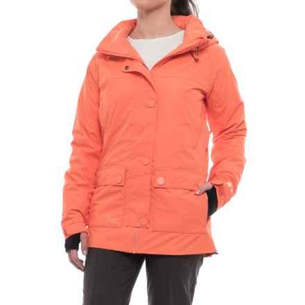 PWDER Room Rotation PrimaLoft® Ski Jacket - Waterproof, Insulated (For Women) in Melon Melange - Closeouts