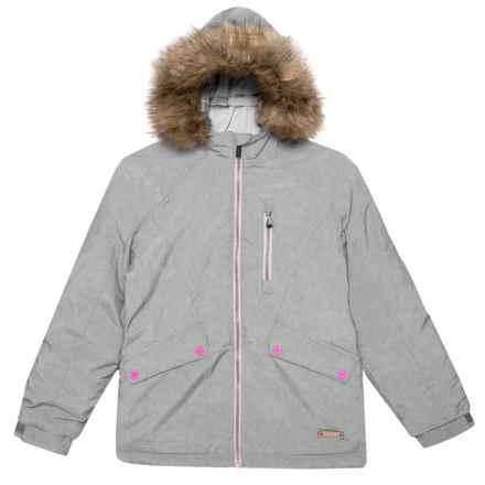 PWDR Room Amanda Ski Jacket - Waterproof, Insulated (For Big Girls) in Grey Melange - Closeouts